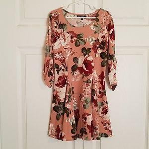 Girls Floral Knit Tunic/Dress